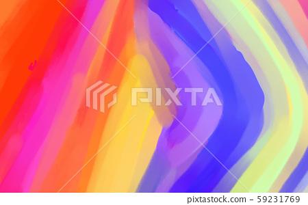 抽象的五顏六色的彩虹山插畫 59231769
