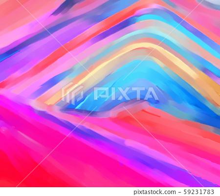 抽象的五顏六色的彩虹山插畫 59231783