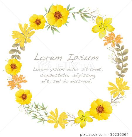 水彩風格花卉框架圖 59236364