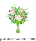 Wedding Bunch of Flowers Vector Illustrated Set 59238900
