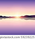 romantic purple sunset ocean landscape 59239225