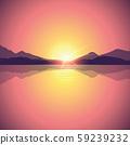 romantic orange sunset ocean landscape 59239232