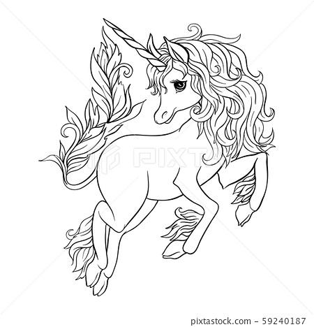 Unicorn. Vector illustration 59240187