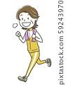 여성 성숙한 운동 달리기 59243970