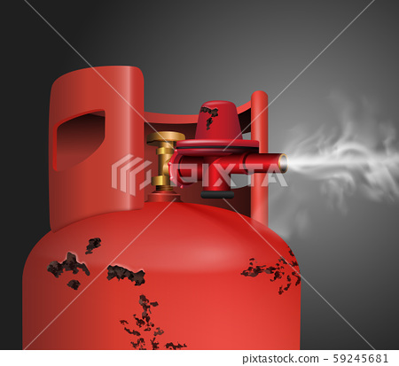 rust old tank gas. vector realistic file. 59245681