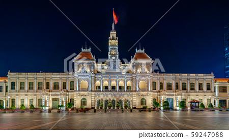 胡志明市政府的夜景 59247088
