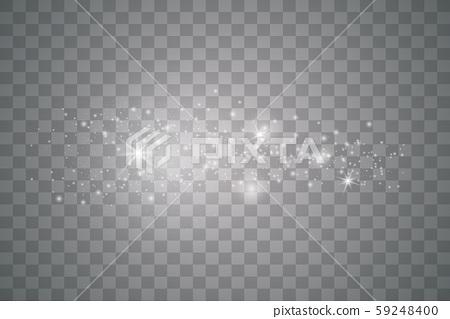 White sparks and golden stars.  59248400