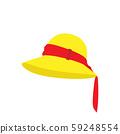 Lady fashion hat design. Elegant women beach 59248554