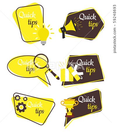 Quick tips badge vector label. Tag blank design 59248693