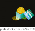 bitcoin in gift boxes of blue 59249719