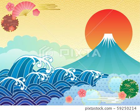 후지산과 바다 59250214