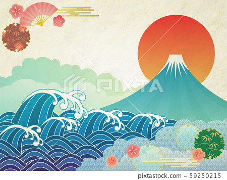 후지산과 바다 59250215