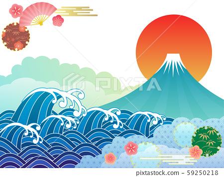 후지산과 바다 59250218