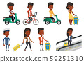 Transportation vector set with people traveling. 59251310