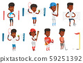 Vector set of sport characters. 59251392