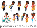 Vector set of media people characters. 59251536