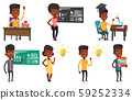 Vector set of student characters. 59252334