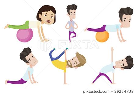 Vector set of sport characters. 59254738