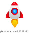 Missile, Rocket Isolated Vector Icon Which Can 59255382