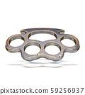 Brass knuckles 3D 59256937