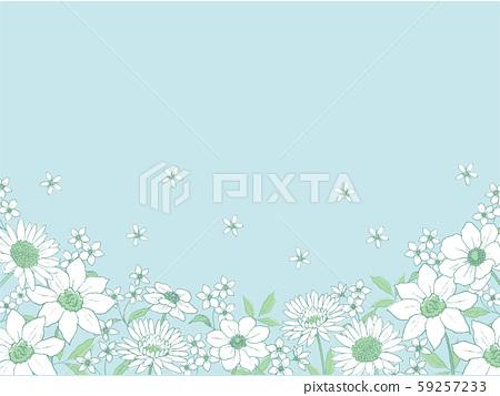 筆繪圖植物背景線條藝術 59257233