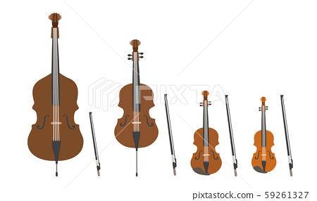 矢量圖組的弦樂器樂團銅管樂隊銅管樂隊音樂 59261327