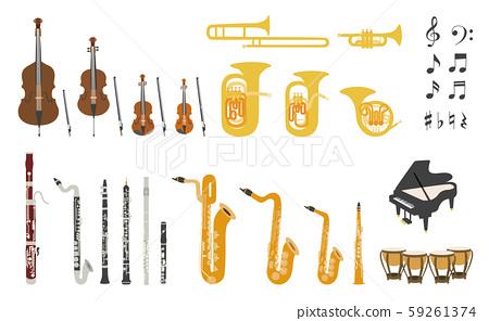 樂隊基本風琴樂器的矢量圖樂隊銅管樂隊銅管樂隊音樂 59261374