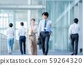 Business image Male employee Female employee 59264320