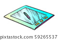 Tablet With Stylus Digital Gadget Color Vector 59265537