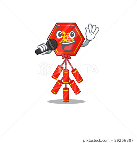Cute chinese firecracker singing character the smiley 59266887