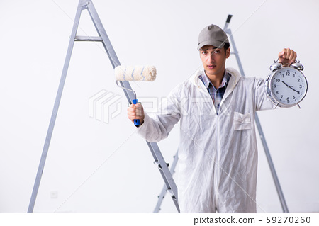 Painter working at construction site 59270260