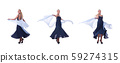 Woman dancing on the white 59274315