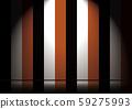 스포트라이트가 해당 가부키의 무대와 단장 59275993