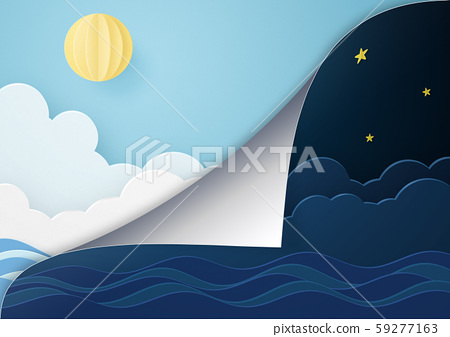 Paper craft-from night to morning 59277163