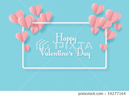 발렌타인 데이 - 종이 공예 - 빈 - 하트 - 프레임 59277164