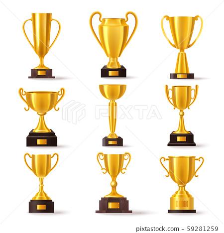 Golden cup award, champion winner trophy prize 59281259