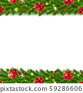 Christmas Garlands Border isolated white 59286606