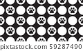 dog paw seamless pattern footprint vector polka dot french bulldog cartoon scarf isolated repeat wallpaper tile background illustration doodle black design 59287490