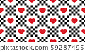 heart seamless pattern valentine vector checked cartoon scarf isolated tile background repeat wallpaper doodle illustration design 59287495
