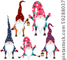 Beautiful flat design gnomes collection. Isolated 59288037