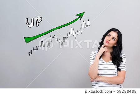 Market up trend chart 59288488