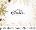 Holiday banner Merry Christmas and Happy New Year. 59289040
