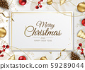 Holiday banner Merry Christmas and Happy New Year. 59289044