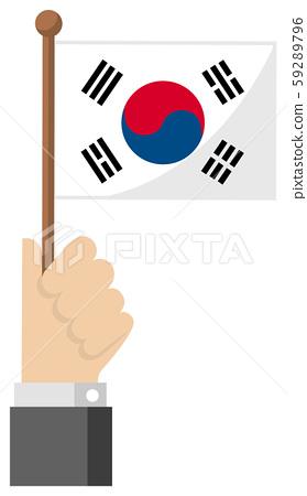 소형 국기 일러스트 (애국심 이벤트 축하 데모) / 한국 대한민국 59289796
