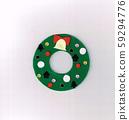 毛氈(花環)製成的聖誕節裝飾 59294776
