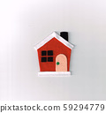 毛氈(房屋)製成的聖誕節裝飾 59294779