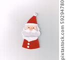 毛氈製成的聖誕節裝飾(聖誕老人) 59294780