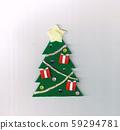 毛氈製成的聖誕節裝飾(聖誕樹) 59294781