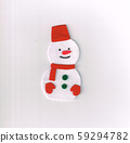 毛氈製成的聖誕裝飾(雪人) 59294782