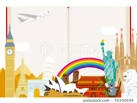 World image Travel illustration 59300699